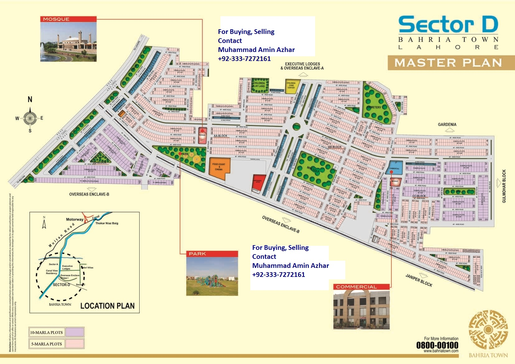 Sector D Map of Bahria Town Lahore Sector D
